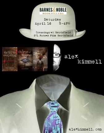 B&N local author event, saturday, april 16
